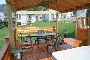 Deck fabrication by First to Call Inc.